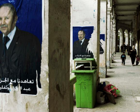 Bouteflika's poster in Algiers