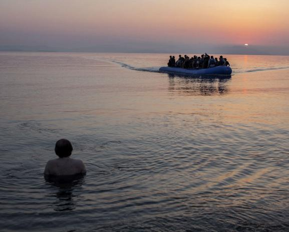 More than 600.000 migrants entered Greece in 2015 from Turkey. Most of them crossed the sea on overcrowded zodiacs and dinghies. Kos Island, June 7, 1015.